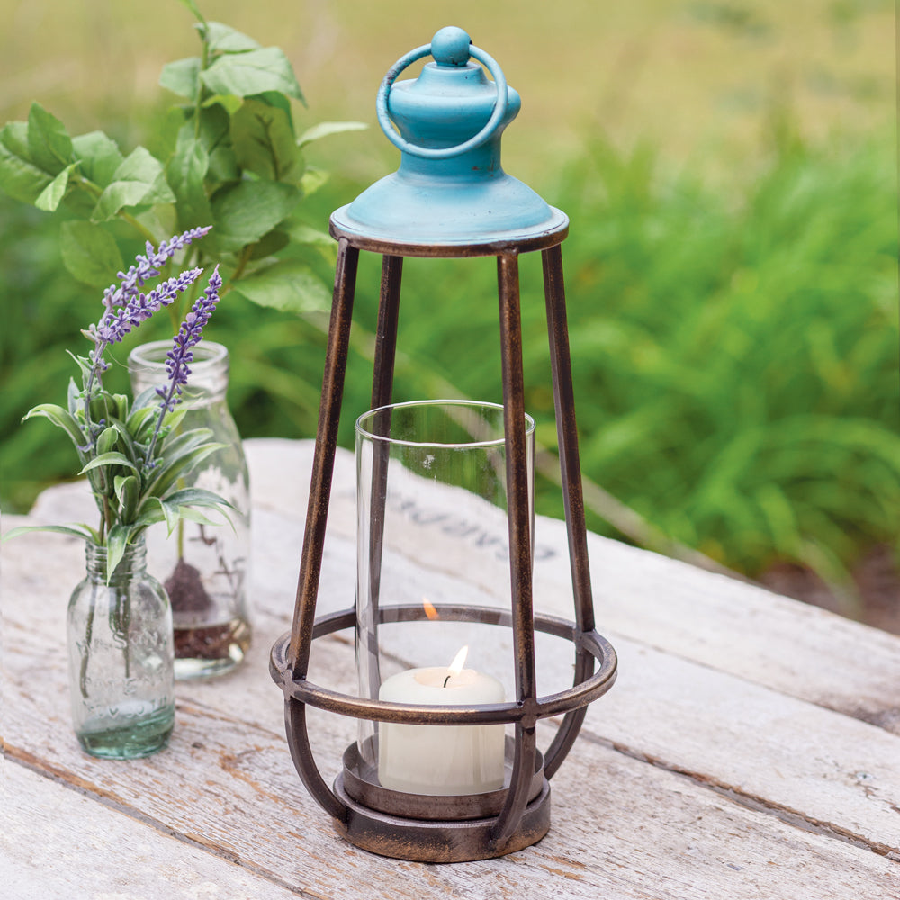 NEW ARRIVAL | Blue Bay Lantern - Cottage and Thistle