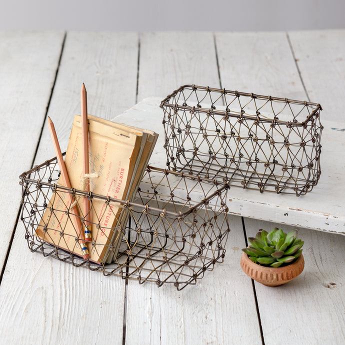 Ticker Baskets - Cottage and Thistle