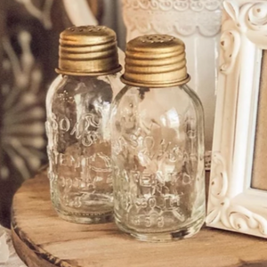 Mini Mason Salt and Pepper Shakers | INSPO INCLUDED! - Cottage and Thistle