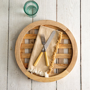 Wooden Lattice Charger - Cottage and Thistle