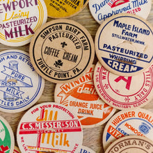 Load image into Gallery viewer, Authentic Vintage Milk Bottle Cap Magnets (Set/8)