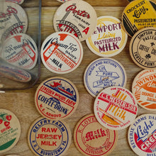 Load image into Gallery viewer, Authentic Vintage Milk Bottle Cap Magnets (Set/8) - Cottage and Thistle