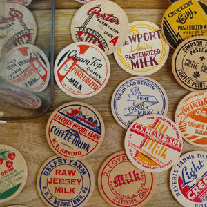 Authentic Vintage Milk Bottle Cap Magnets (Set/8) - Cottage and Thistle