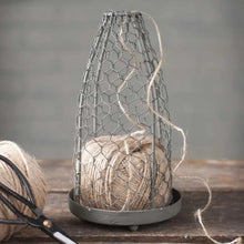 Load image into Gallery viewer, CLEARANCE | Chicken Wire Cloche with Jute Twine
