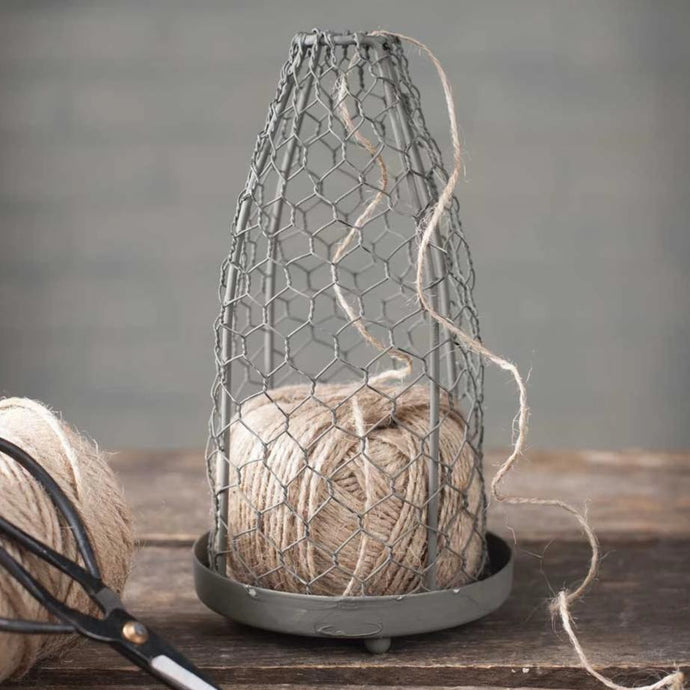 Chicken Wire Cloche with Jute Twine - Cottage and Thistle