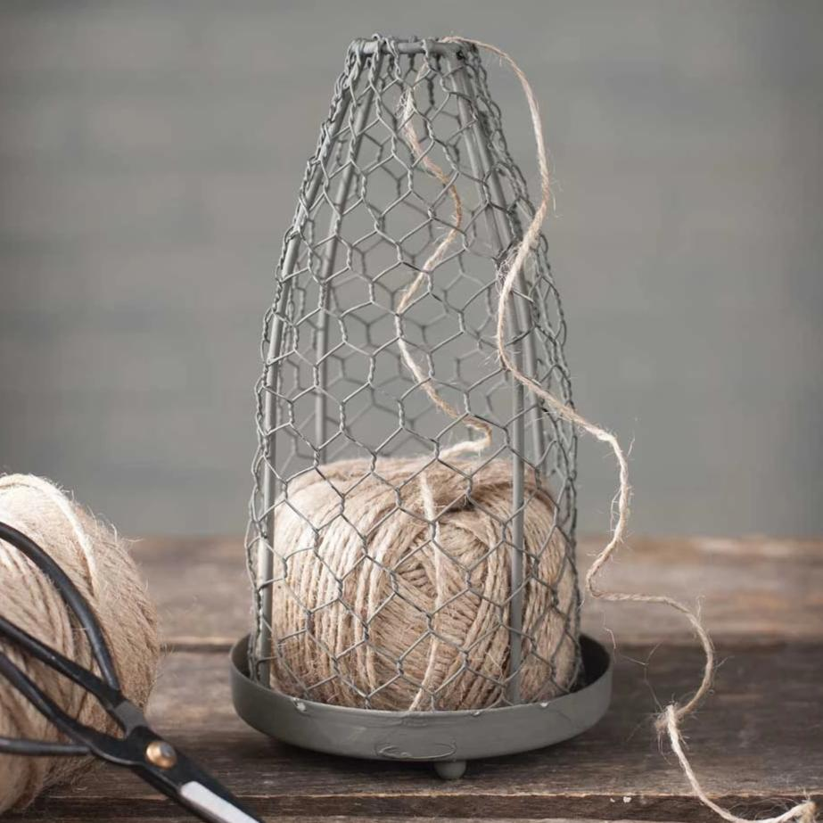 CLEARANCE | Chicken Wire Cloche with Jute Twine