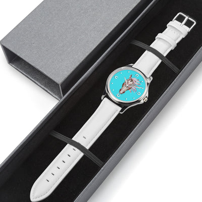 Blue Spirit - White Leather Horse Watch
