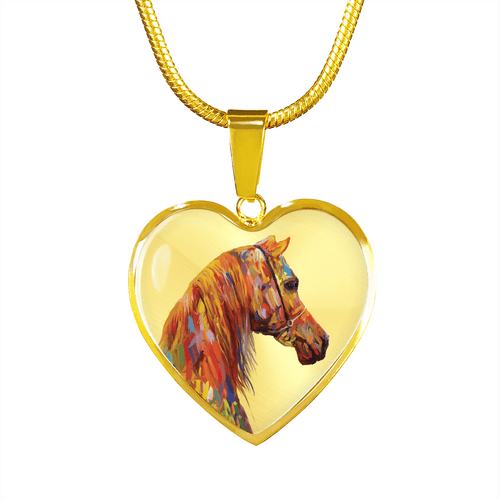 Arabesque - Horse Gold Necklace