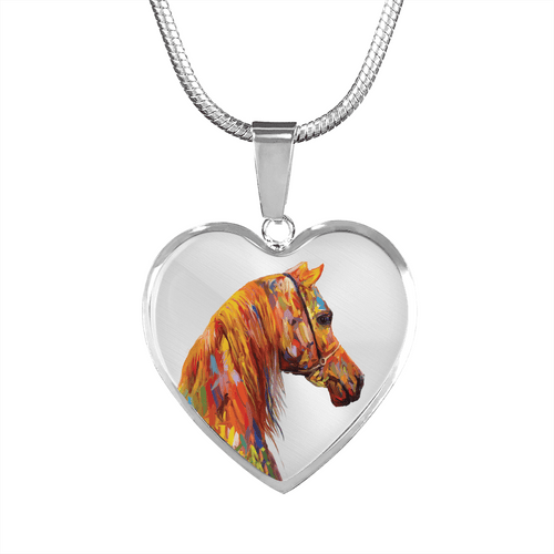 Arabesque - Luxury Steel Horse Necklace