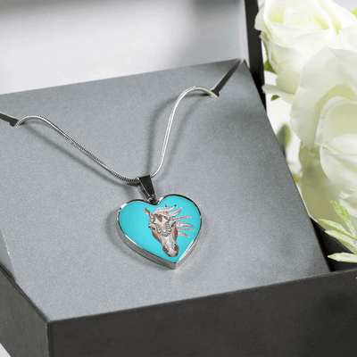Blue Spirit - Luxury Steel Horse Necklace