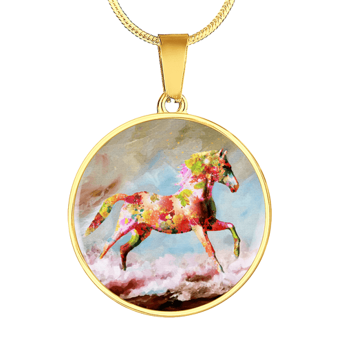Dancing Sand - Horse Gold Necklace