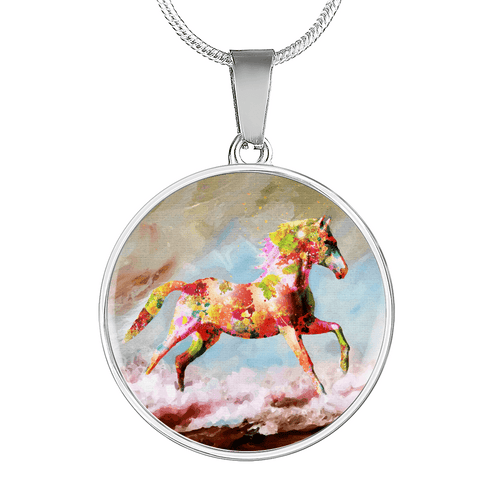 Dancing Sand - Luxury Steel Horse Necklace
