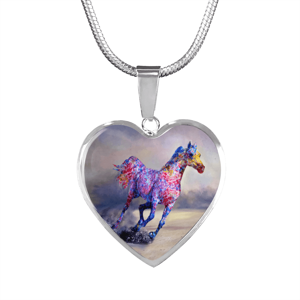 Destiny Race - Luxury Steel Horse Necklace