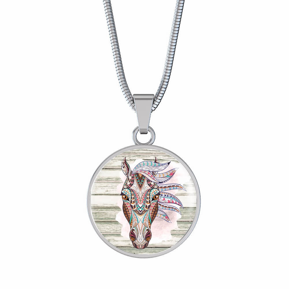 Forest Spirit - Luxury Steel Horse Necklace
