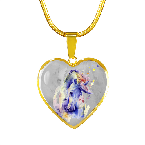 Poema - Horse Gold Necklace