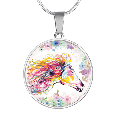 Primavera - Luxury Steel Horse Necklace