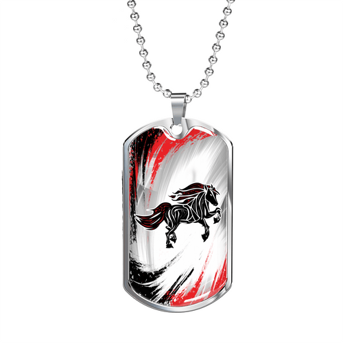 Wild Flame - Luxury Steel Horse Necklace