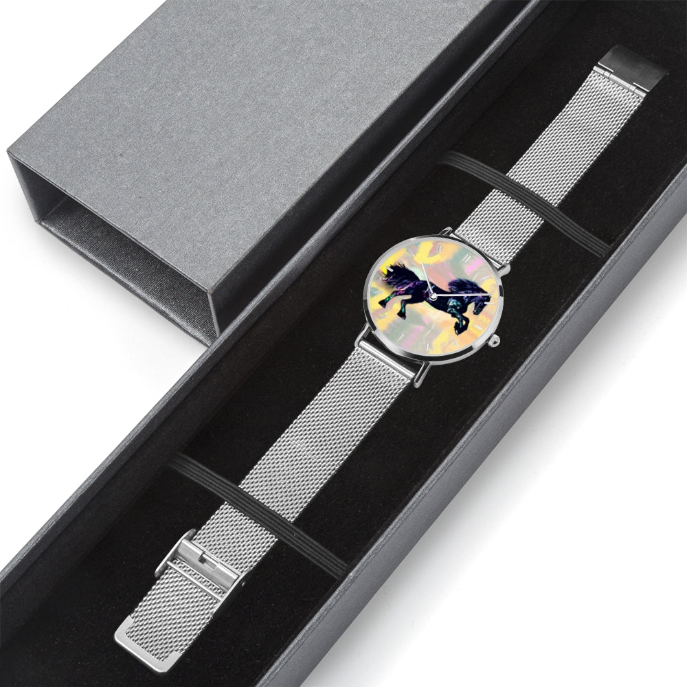 Dark Knight - Stainless Steel Horse Watch