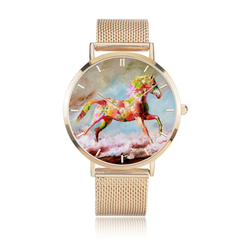 Dancing Sand - Luxury Steel Horse Watch