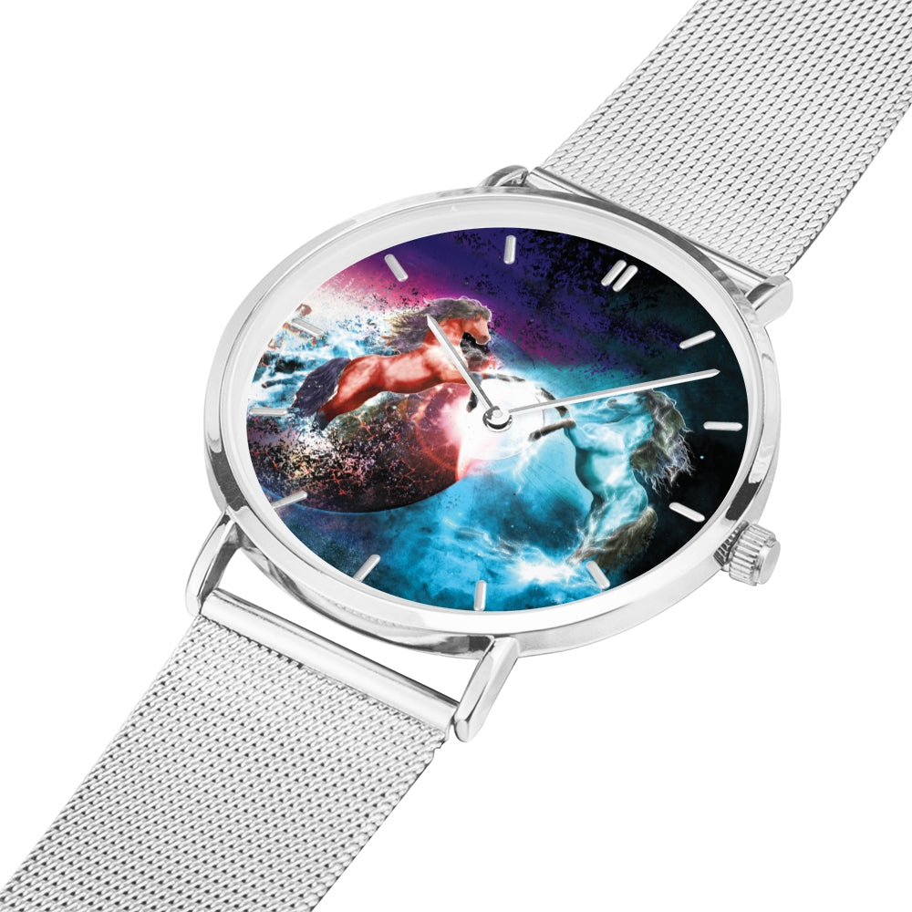 Cosmic Dream - Luxury Steel Horse Watch