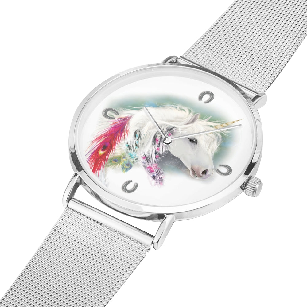 Evanescence - Luxury Steel Unicorn Watch