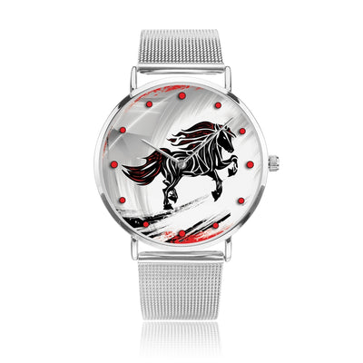 Wild Flame - Luxury Steel Horse Watch
