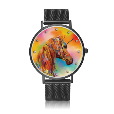 Arabesque - Luxury Steel Horse Watch