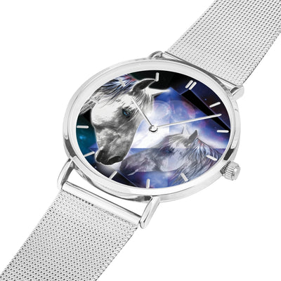 Moonlight Beauty - Luxury Steel Horse Watch