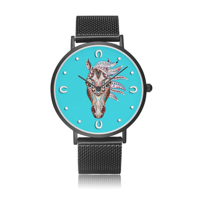 Blue Spirit - Luxury Steel Horse Watch