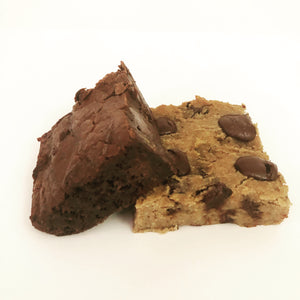 Chickpea Blondie/Black Bean Brownie Combo- 1 Dozen