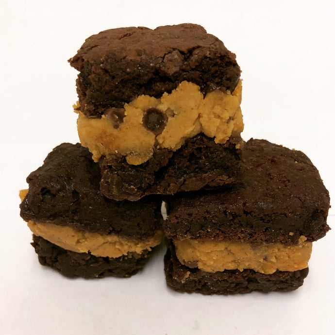 Cookie Dough Brownie Sandwiches- 1 Dozen
