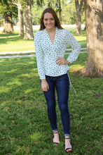 Load image into Gallery viewer, Spotted Wrap Blouse - Simply L Boutique
