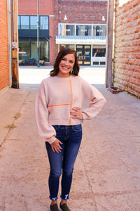 All About the Stitching Sweater - Simply L Boutique