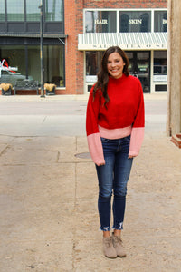 Knit Colorblock Sweater - Simply L Boutique