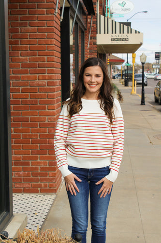 Chic Striped Sweater - Simply L Boutique