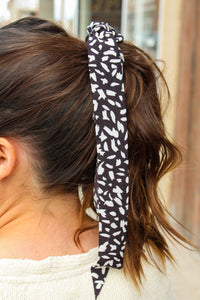 Black & White Hair Scarf - Simply L Boutique