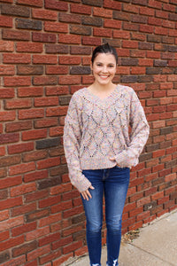Color Me Pretty Speckled Sweater - Simply L Boutique