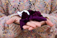 Load image into Gallery viewer, Dark Purple Velvet Scrunchie - Simply L Boutique