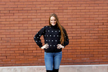 Load image into Gallery viewer, Polka Dot Bubble Sleeve Sweater - Simply L Boutique