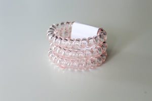 Clear Light Pink Hair Ties - Simply L Boutique
