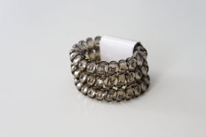 Clear Grey Hair Ties - Simply L Boutique