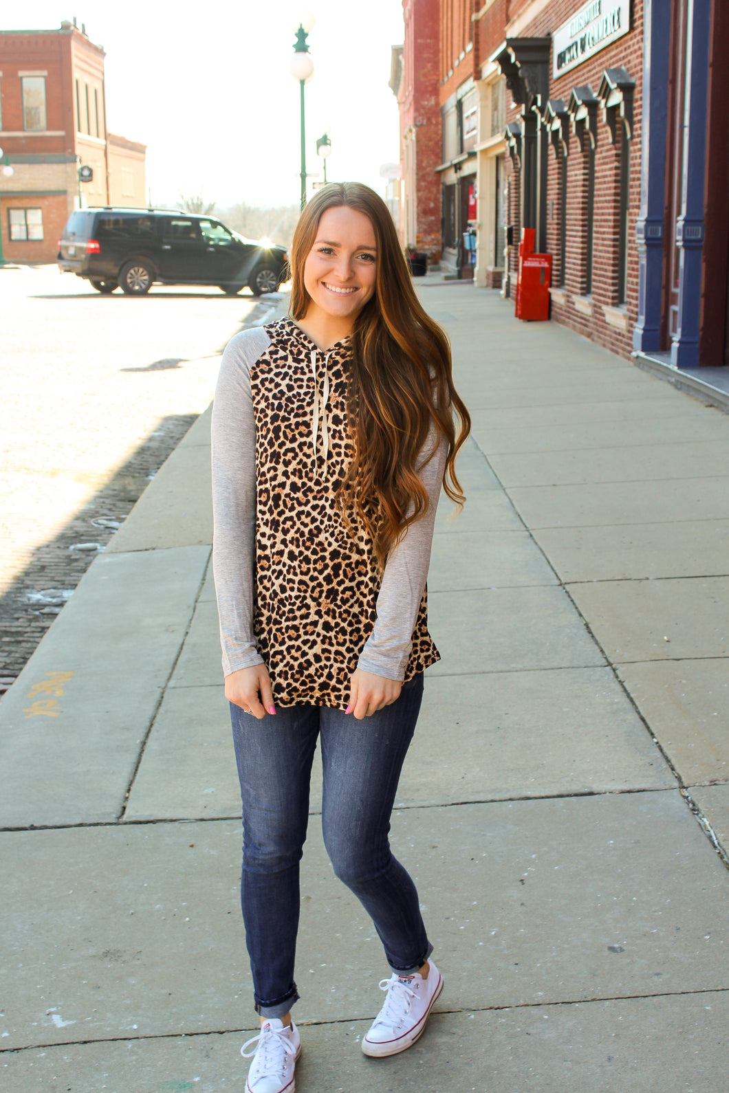 Leopard Hoodie Top - Simply L Boutique
