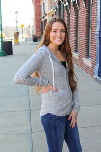 Casual Weekend Heather Grey Jacket - Simply L Boutique
