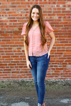 Load image into Gallery viewer, Blush Me Pink Textured Top - Simply L Boutique