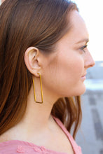 Load image into Gallery viewer, Gold Geo Hoops - Simply L Boutique