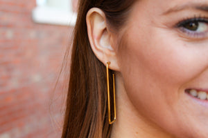 Gold Geo Hoops - Simply L Boutique