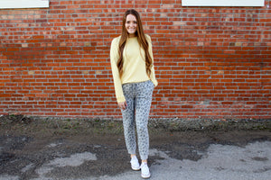 Grey Leopard Jogger - Simply L Boutique