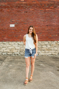 Peek-a-Boo Pocket Denim Short - Simply L Boutique