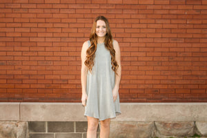 Grey Basic Swing Dress - Simply L Boutique