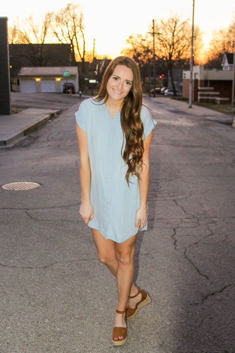 Chambray All The Way Dress - Simply L Boutique
